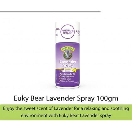 Euky Bear Antibacterial Disinfectant Lavender Spray 100g (KILLS GERMS 99.99%)