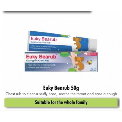 EUKY BEARUB ( NATURAL EUCALYPTUS CHEST RUB) 50G