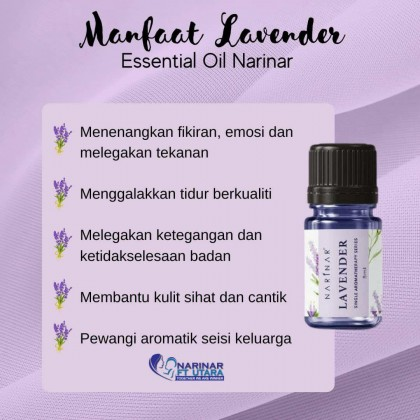 NARINAR ESSENTIAL OILS LAVENDER/PEPPERMINT/GENTLE GLO CARRIER OIL