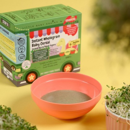LITTLE BABY GRAINS - PREMIUM BROWN RICE & ORGANIC SUPERGREENS INSTANT CEREAL (FROM 6 MONTHS)