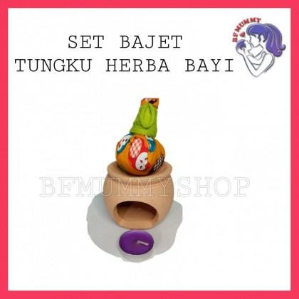 SET BAJET TUNGKU HERBA BAYI DENGAN BURNER/PEMANAS TUNGKU